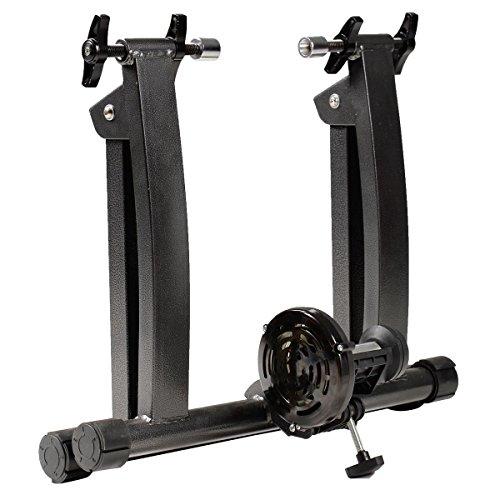 GHP Black Indoor Magnetic Resistance Bicycle Trainer Stand for 26''-28'' Wheel Sizes by Globe House Products (Image #4)
