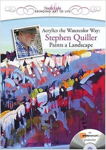 Acrylics The Watercolor Way   Stephen Quiller Paints A Landscape (DVD) ( Landscapes In Living Color): Stephen Quiller: 9781600613463: Amazon.com:  Books