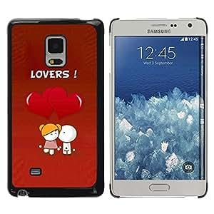 TopCaseStore / la caja del caucho duro de la cubierta de protección de la piel - Cute Lovers Coupkle - Samsung Galaxy Mega 5.8 9150 9152