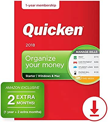 Quicken starter edition 2017 personal finance & budgeting software.