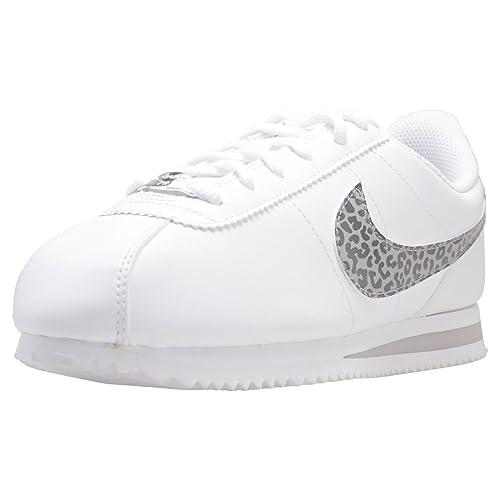 Nike Cortez Basic SL (GS), Zapatillas de Deporte para Mujer, (White/Atmosphere Gre 100), 38 EU: Amazon.es: Zapatos y complementos