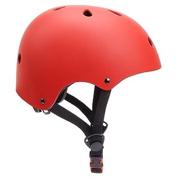 KORIMEFA Casco Bicicleta para Niños Casco Infantil Ajustable para Monopatín Patinaje BMX Esquiar, Casco para