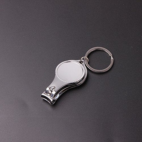 1 Pc 3-in-1 Filer Bar Carbon Steel Nail Clipper Bottle Opener Keychain Key Rings Chains Wrist Holder Strap First-class Popular Beer Openers Corkscrew Catcher Knife Vintage Utility Pocket Accessories