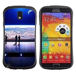 Suave TPU GEL Carcasa Funda Silicona Blando Estuche Caso de protección (para) Samsung Note 3 / CECELL Phone case / / Mass Game Spaceship View /