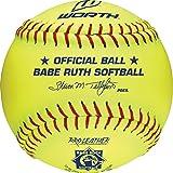 Worth Fast Pitch Babe Ruth Pro Leather Soft Balls, 12'' (Dozen)
