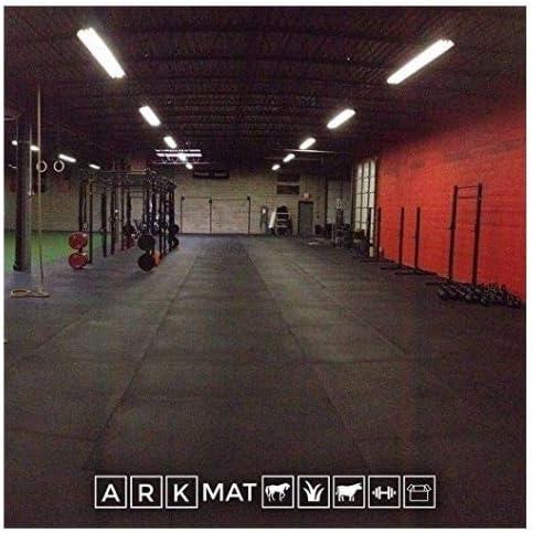 5 x Tarea Pesada 12mm Sólido Negro Caucho Tapete de gimnasio | 1.8 ...