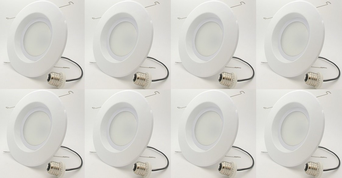 8-Pack Bioluz LED 6'' BRIGHTEST RETROFIT (120 Watt Replacement) WARM WHITE UL-listed Dimmable Retrofit LED Recessed Lighting Fixture - 2700K Warm White LED Ceiling Light - 1200 Lumen Recessed Downlight