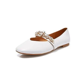 YQQ Zapatos Planos Zapatos De Verano Sandalias Salvajes Sandalias De Mujer Boca Poco Profunda Diamante De