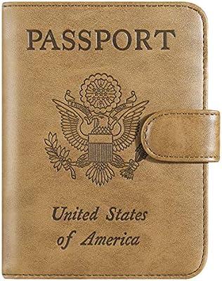 Passport Holder Cover Wallet Case RFID Blocking Leather Card Travel Accessories for Women Men