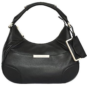 b473c42fc953c BOSS HUGO BLACK Handtasche MEGGY Schwarz genarbtes Leder B50217713-10152746- 001