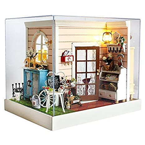 Amazon Com Rylai 3d Puzzles Wooden Handmade Dollhouse Miniature Diy