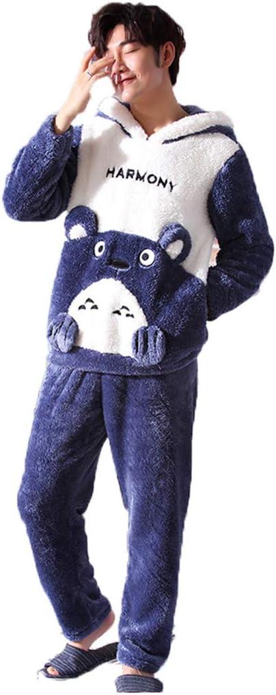 Pijamas patrón de Dibujos Animados, Hombres, Invierno, Coral, Terciopelo, Engrosamiento, más Terciopelo, Adolescentes, otoño e Invierno, Hombres, ...