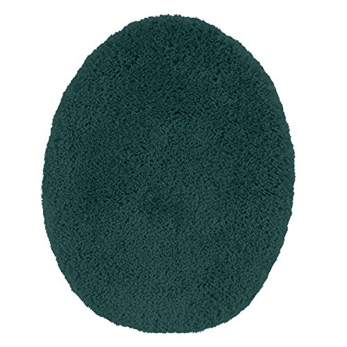 Toilet Seat Cover, Maples Rugs [Made in USA][Cloud Bath] Washable Non Slip Bath Lid Covers for Bathroom - Teal Quartz (Quartz Bath)