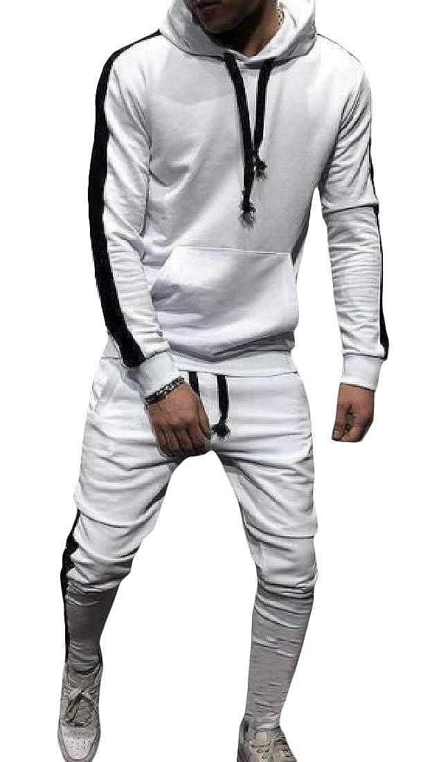 Sweatwater Men Athletic Hoodies Sweatpants Activewear Sweatshirts 2-Piece Outfit