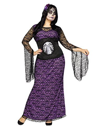 Fun World Women's Plus Size La Muerte Costume, Multi, XX-Large