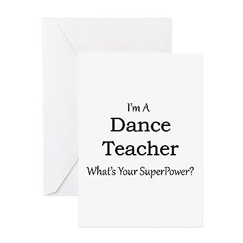 Amazon Cafepress Dance Teacher Greeting Cards Greeting