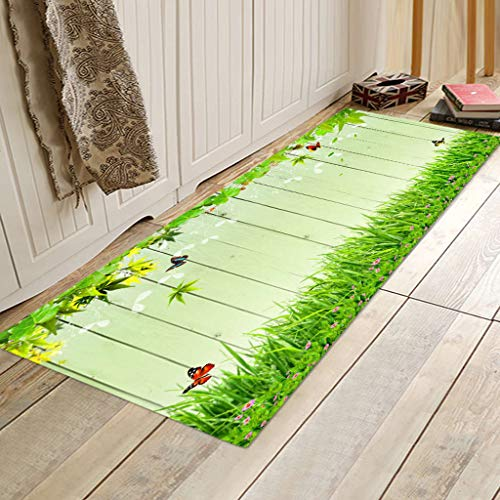 - Wabaodan Kitchen Rug Non Slip Rubber Backing Kithcen Floor Mat/Runner Mat Perfect in Front of Sink and Dishwasher