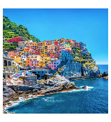 Wooden Mosaic Jigsaw Puzzle - Cinque Terre - 200 Unique Pieces Challenge Any Puzzle Lover Ages 8 to Adult - Made in The USA by Zen Art & Design