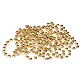 Gold Bead Style Christmas Garland by Clever Creations   Shiny 8mm Shatterproof Bead Garland   Classic Traditional Christmas Theme   Festive Holiday Décor   Measures 2.7m (9') Long