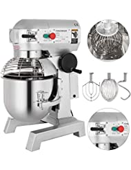 Happybuy Commercial Food Mixer 1100W Dough Mixer Maker 3 Speeds Adjustable Commercial Mixer Grinder 105/