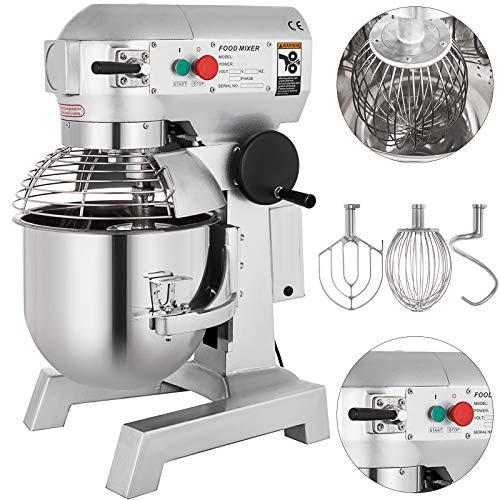 - Happybuy Commercial Mixer 3 Speeds Adjustable Food Grinder 110/178/390 RPM for Meat Vegetables and Fruit, 10 Quart, Upgrade Design