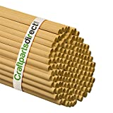 5/16 Inch x 48 Inch Wooden Dowel Rods - Unfinished Hardwood Dowels For Crafts & Woodworking - By Craftparts Direct - Bag of 500