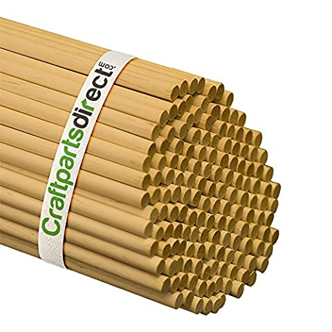 5/16 Inch x 48 Inch Wooden Dowel Rods - Unfinished Hardwood Dowels For Crafts & Woodworking - By Craftparts Direct - Bag of 5