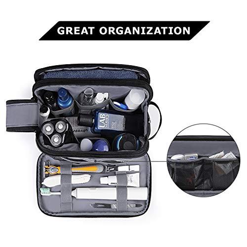 Toiletry Bag for Men, BAGSMART Travel Toiletry Organizer Dopp Kit Water-resistant Shaving Bag for Toiletries Accessories, Black