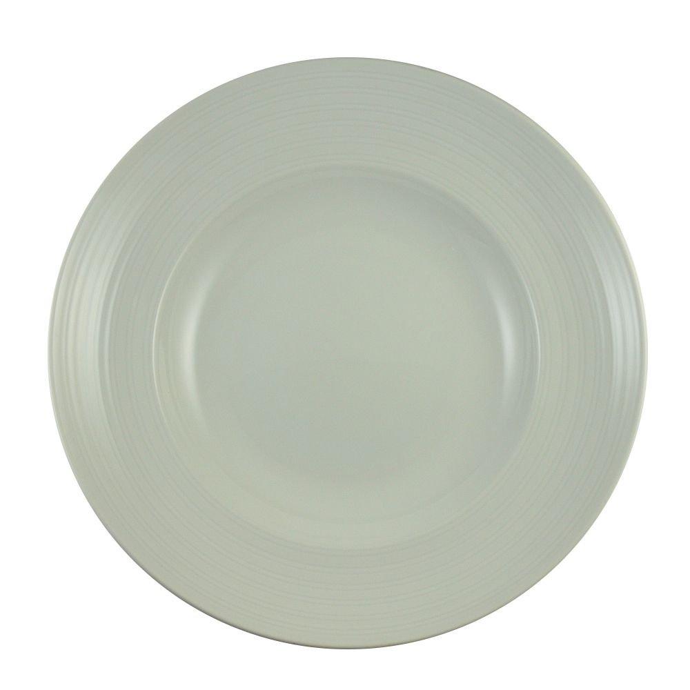 Vertex China CB-23 Crystal Bay Pasta Deep Bowl with Rim, 12'', 20 oz., Bright White (Pack of 12)