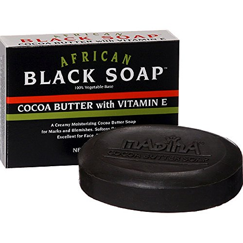 Madina Madina African Black Soap Cocoa Butter with Vitamin E, 3.5 Ounce (Black Soap Cocoa Butter)