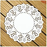 Aspire Round Paper Lace Doilies Placemats for Party Table Decoration 4.5-5.5 Inches 140Pcs/Pack-1 pack-5.5in