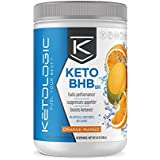KetoLogic BHB – Keto Supplement – Suppresses Appetite/Increases Energy/Low Carb/Electrolytes/Beta-Hydroxybutyrate Salts – Orange-Mango, 30 Servings