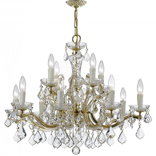 Crystorama 4379-GD-CL-MWP Crystal 12 Light Chandelier from Maria Theresa collection in Gold, Champ, Gld - Light Twelve Maria Theresa