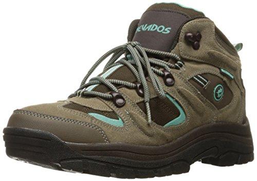 Nevados Womens Klondike Waterproof Hiking Boot Shitake Brown/Dark Chestnut/Vivid Aqua