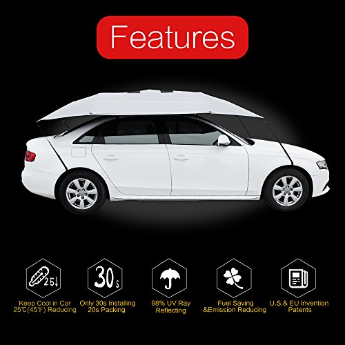 Sunclose car shade canopy covers sun visitors blocker protection roof umbrella travel for Travel gear car
