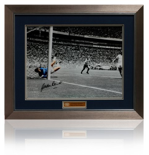 - Save Of the Century hand signed by Gordon Banks, 16 x 12