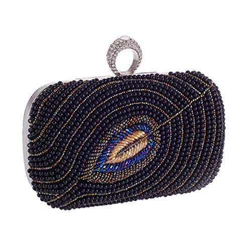 Popular Fly Women's Pearl American Evening Evening Black Evening Party Ruili Bag Beaded European Bag Bag Party Bag wXgrqnAX