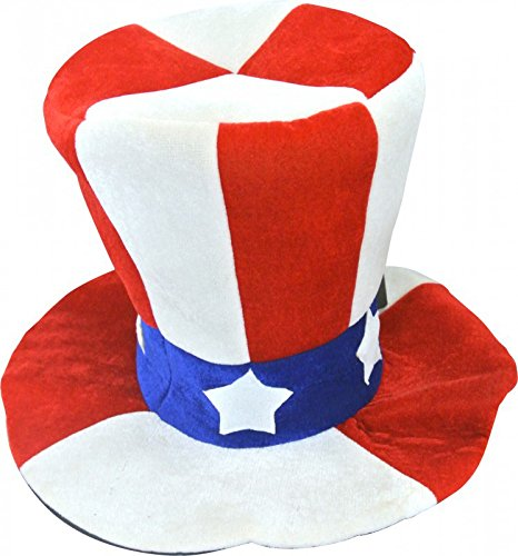 Cappello alto di forma Zio Sam Usa per adulto  Amazon.it  Giochi e ... 4aee3a34942d