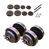 Cap Barbell 40-Pounds Cement Dumbbell Set (Black)