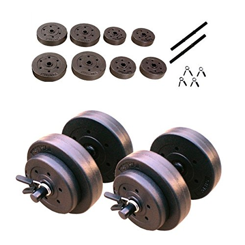 CAP Barbell 40-Pounds Cement Dumbbell Set (Black) (Cap Barbell 40 Pound Adjustable Dumbbell Set)