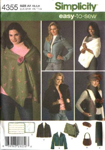 Simplicity Sewing Pattern 4355 Misses Size 14 24 Easy Jacket Faux
