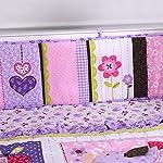 Wowelife-Purple-Elephant-Crib-Bedding-Set-Elephant-Nursery-Set-100-Cotton-with-Diaper-StackerPurple-9-Piece