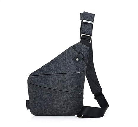 43a0e15cd9 Ovecat Sling Bag Crossbody Spalla Petto Zaino antifurto a ghigliottina, per  Uomo Donna, Dark