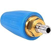Lavadora a presión con boquilla giratoria Turbo, 3600PSI Turbo Rotativa con boquilla giratoria 1/4 Conexión rápida con enchufe Turbo Boquilla para lavadoras a presión