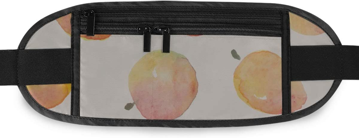 s Peaches Fruit Red Yellow Running Lumbar Pack For Travel Outdoor Sports Walking Travel Waist Pack,travel Pocket With Adjustable Belt