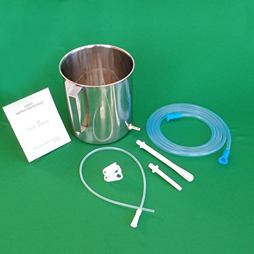Healthandyoga Tm Stainless Steel Enema Kit With Pvc