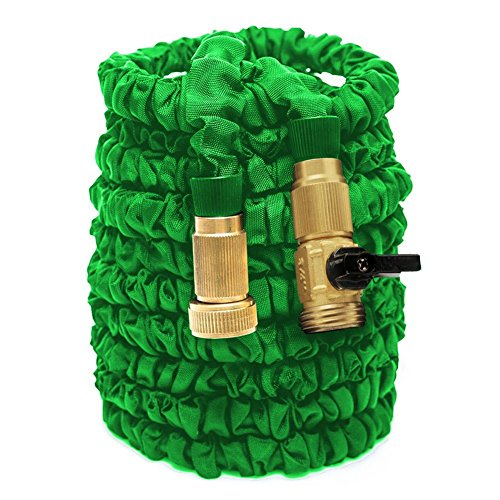 Garden Hose, Expanding Garden Hose, 50ft Expanding Solid Brass Fitting Garden Hose Lightweight Durable Heavy Duty Flexible Pressure Washer Water Hose for Car Wash Cleaning Watering Lawn Garden Plants