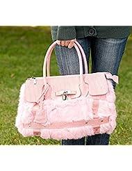 Fashion Angora Rabbit Fur Handmade Tote Bag Great Gift for Holiday
