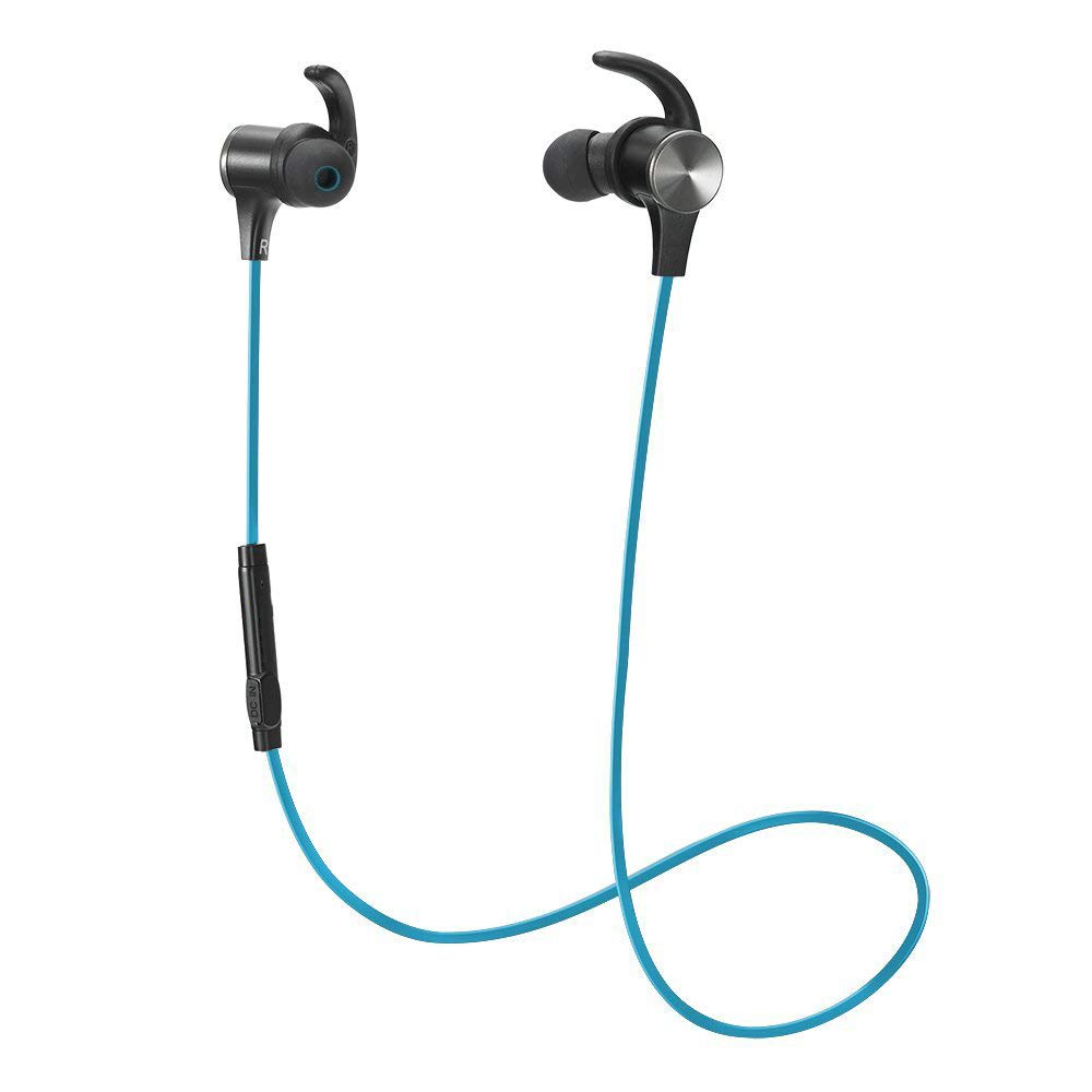 MUTANG Bluetooth Earphones IPX6 Waterproof Noise Cancelling Wireless Sports HD Earpiece 4.2 AptX Stereo Magnetic in-Ear Earbuds
