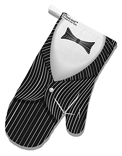TooLoud Skeleton Tuxedo Suit Costume White Printed Fabric Oven Mitt All Over Print